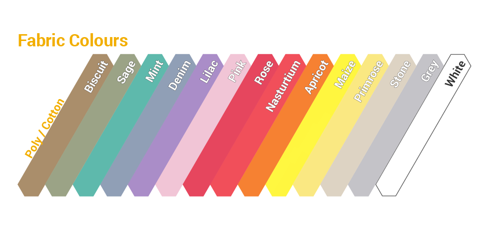 Polycotton colour range