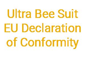 Ultra Bee Suit EU Declaration of conformity